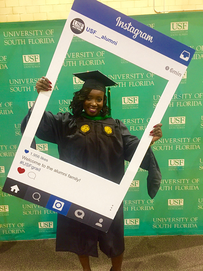 instagram frame at usf graduation