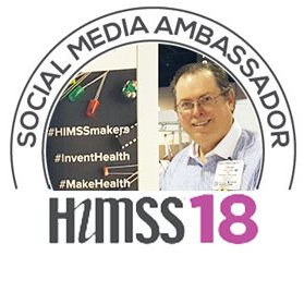 Chuck Webster is a well-known face around HIMSS conventions.